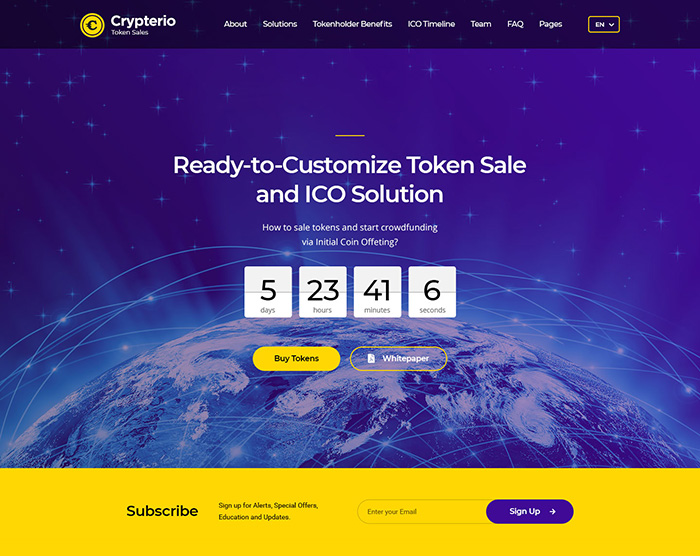 ICO Landing Page (Light)